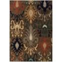 """Oriental Weavers Kasbah 7' 8"""" X 10'10"""" Rectangle Area Rug - Item Number: KAS3830D78X1010"""