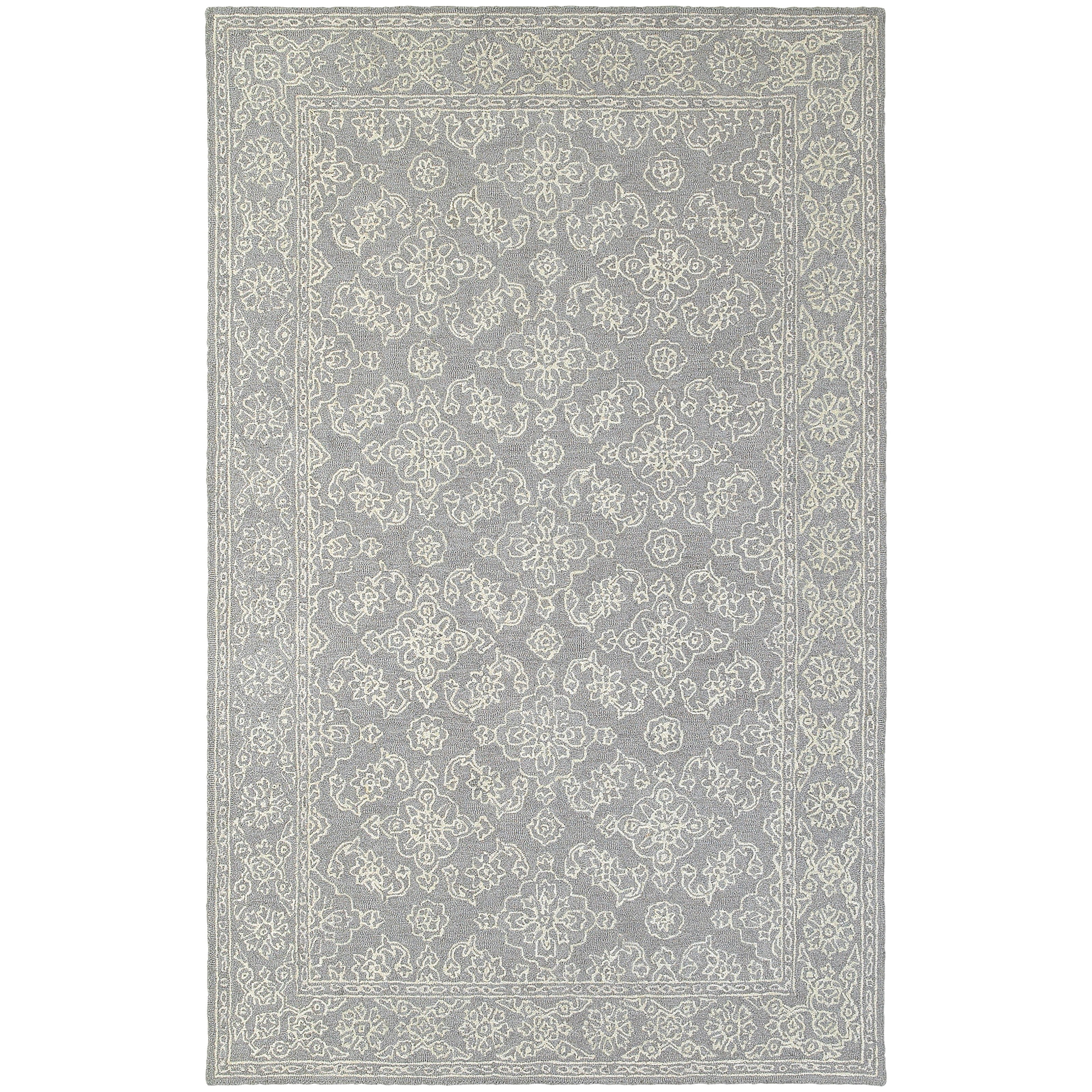 "Oriental Weavers Manor 8' 0"" X 10' 0"" Casual Grey/ Stone Rectangle  - Item Number: MAN812088X10"