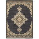 "Oriental Weavers Pasha1 6' 7"" X  9' 6"" Traditional Blue/ Grey Rectan - Item Number: PAS72E67X96"
