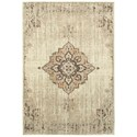 """Oriental Weavers Pasha1 5' 3"""" X  7' 6"""" Traditional Ivory/ Brown Rect - Item Number: PAS72J53X76"""