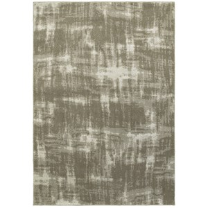 "7'10"" X 10'10"" Contemporary Grey/ Ivory Rect"