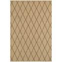"Oriental Weavers Santa Rosa 6' 7"" X  9' 6"" Outdoor Beige/ Sand Rectangle - Item Number: SAN90D67X96"