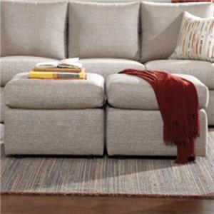 Overnight Sofa 26 Frame Casual Ottoman with Pillow Top Cushions