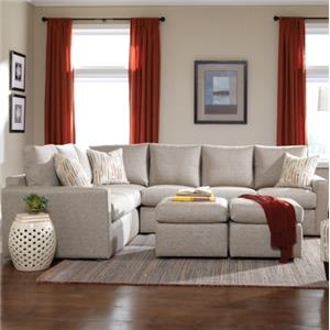 Overnight Sofa 26 Frame Casual Sectional with Track Arms