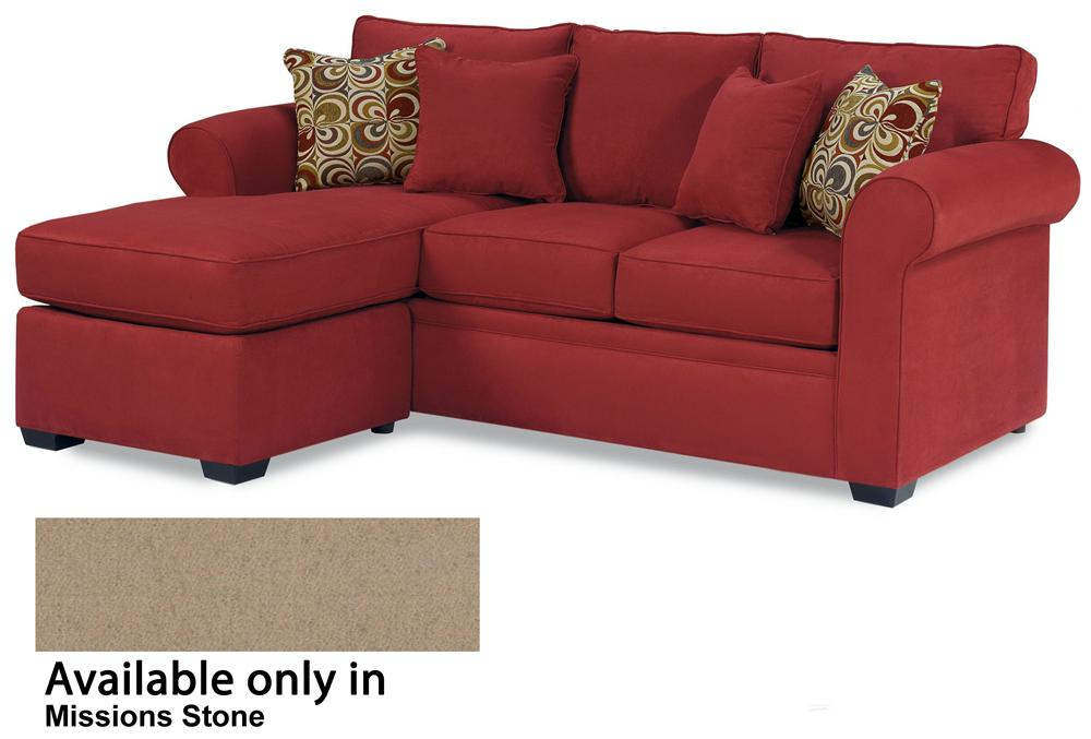 Queen Sleeper with Chaise Ottoman