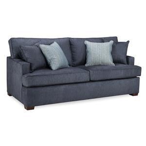 Overnight Sofa Denim Queen Sleeper Sofa