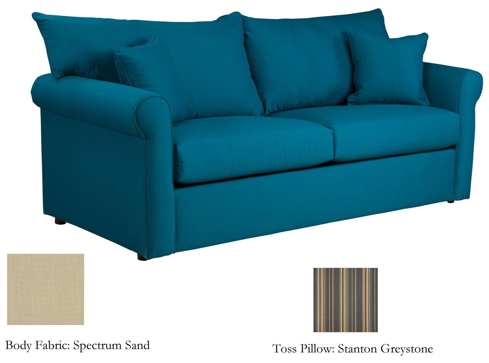 Sunbrella Fabric Full Sleeper Sofa