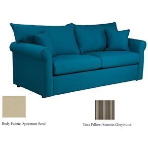 Warehouse M 79 Frame Sunbrella Fabric Full Sleeper Sofa