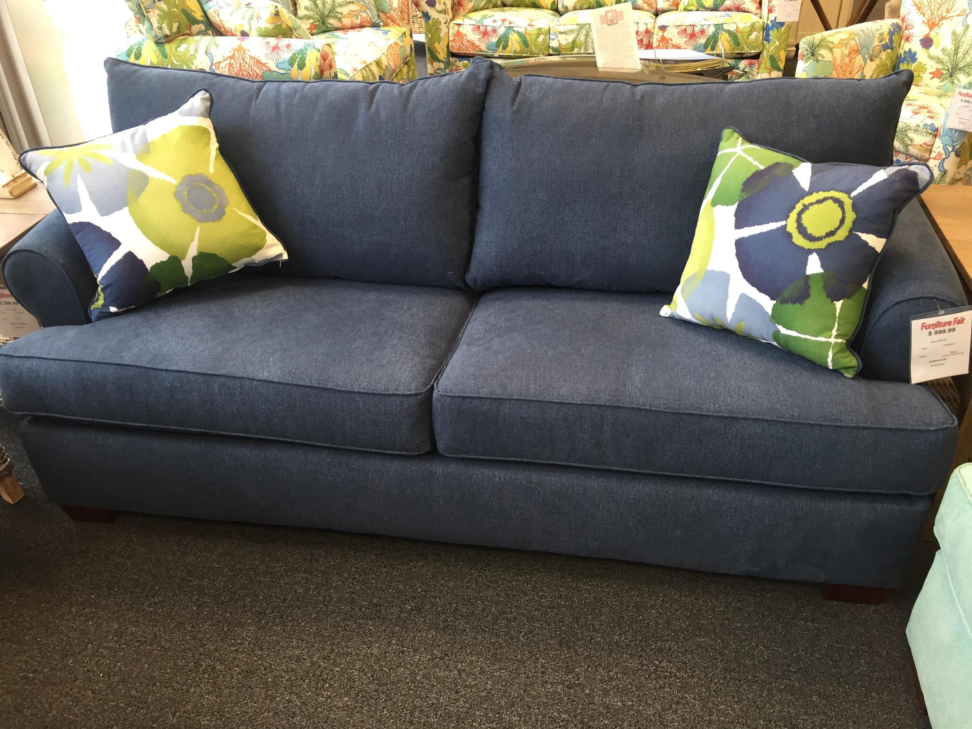 Overnight Sofa 8650 Queen Sleeper Sofa - Item Number: 8650blue