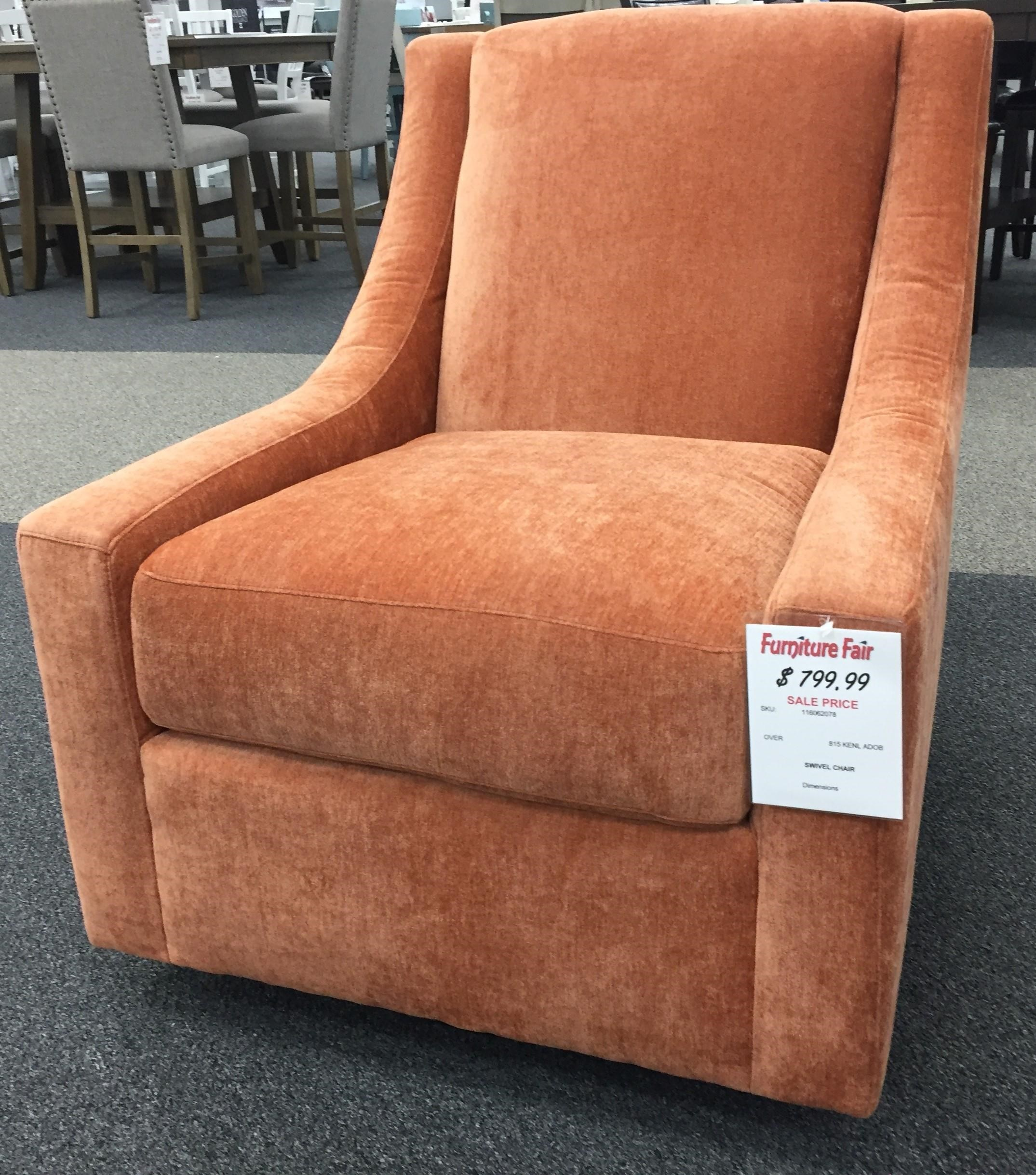 Coastal Sleeper Collection Swivel Rocker Chair - Adobe Rust by Overnight Sofa at Furniture Fair - North Carolina