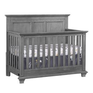 Gray 4 in 1 Convertible Crib