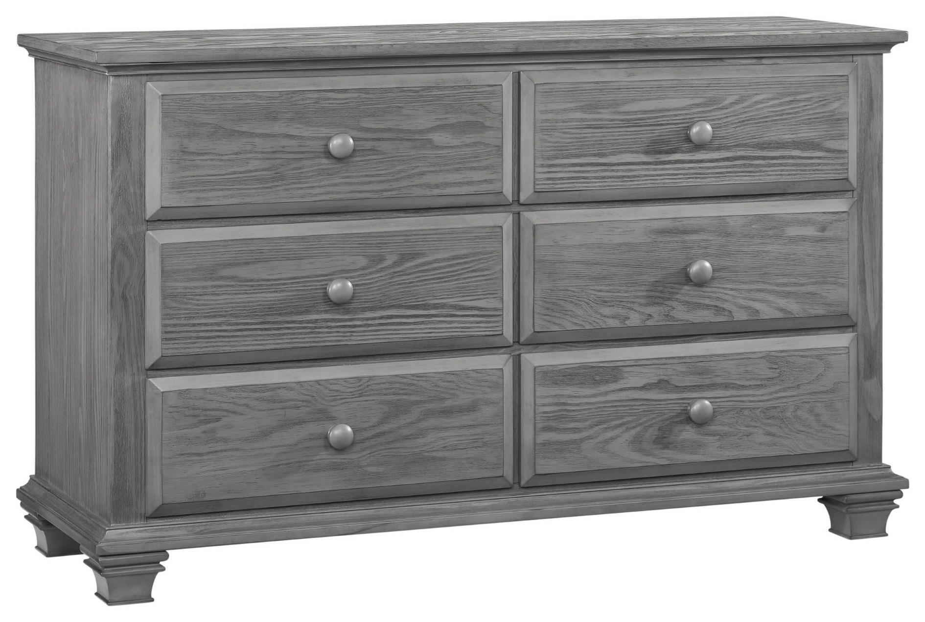 Gray 6 Drawer Dresser