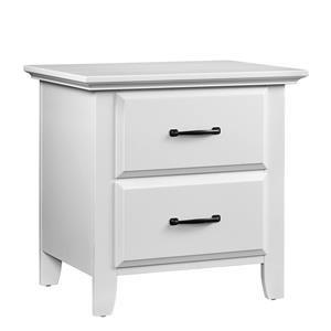 White 2 Drawer Nightstand