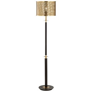 Pacific Coast Lighting Floor Lamps Column With Perforated Shade Lamp