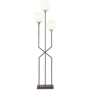 Pacific Coast Lighting Floor Lamps Three Off Set Frosted Globes Floor Lamp