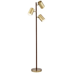 Pacific Coast Lighting Floor Lamps 3 Light Solid Wood Floor Lamp