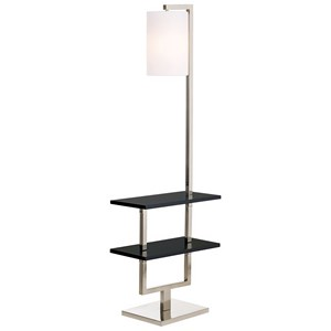 Pacific Coast Lighting Floor Lamps Avenue Double Shelf Downbridge Floor Lamp