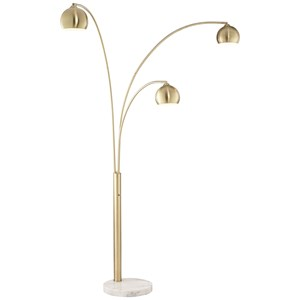 Pacific Coast Lighting Floor Lamps Crosstown Arc Gold Floor Lamp