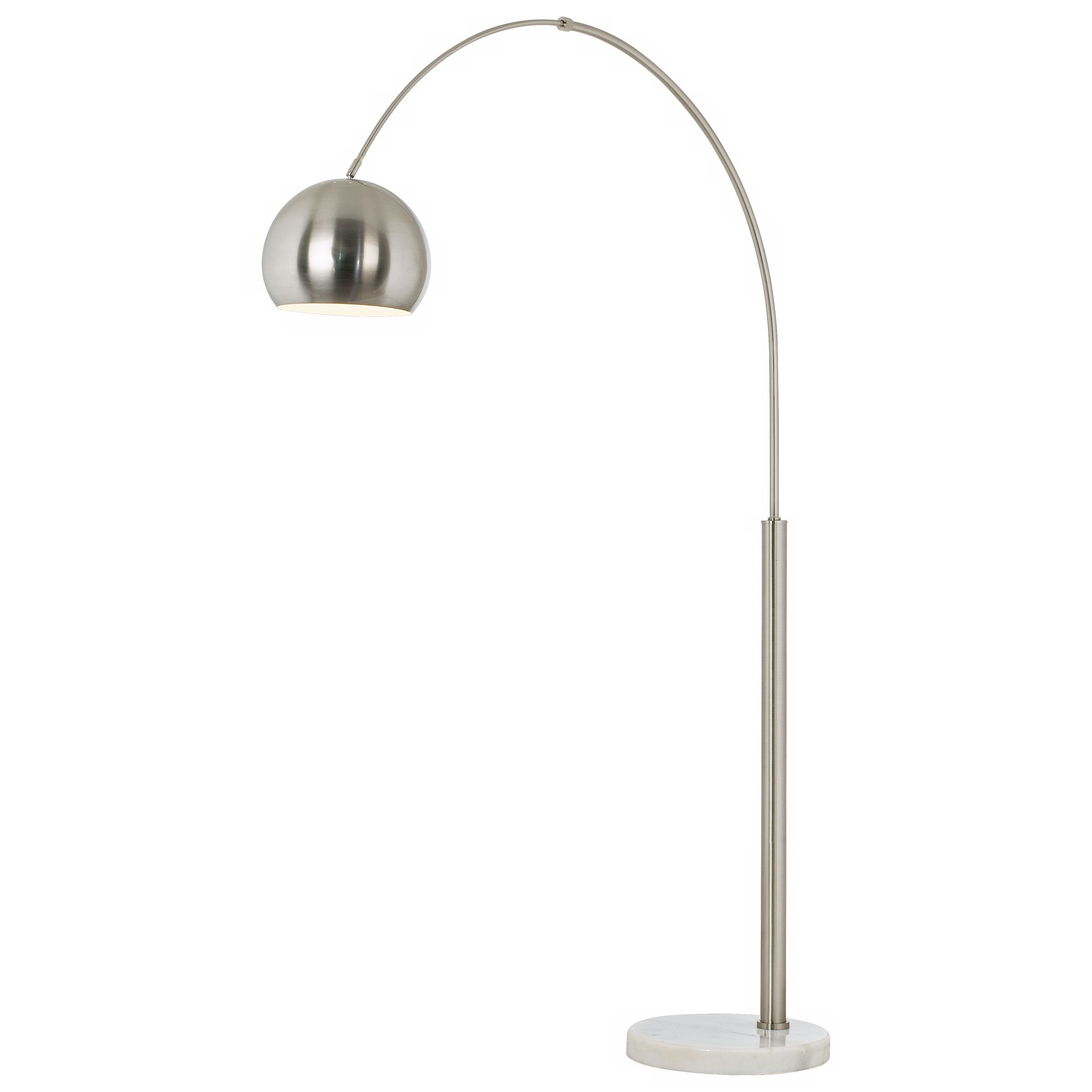 PCL FLOOR LAMPS Basque Floor Arc Lamp-Nickel by PCL LIGHTING at Walker's Furniture