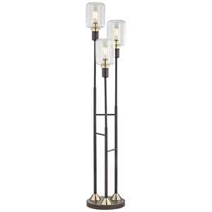 Pacific Coast Lighting Floor Lamps Three Light Menlo Lane Floor Lamp