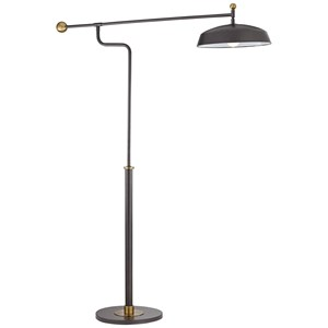 "Pacific Coast Lighting Floor Lamps Kig 78.5"" Gun Metal Finish Floor Lamp"