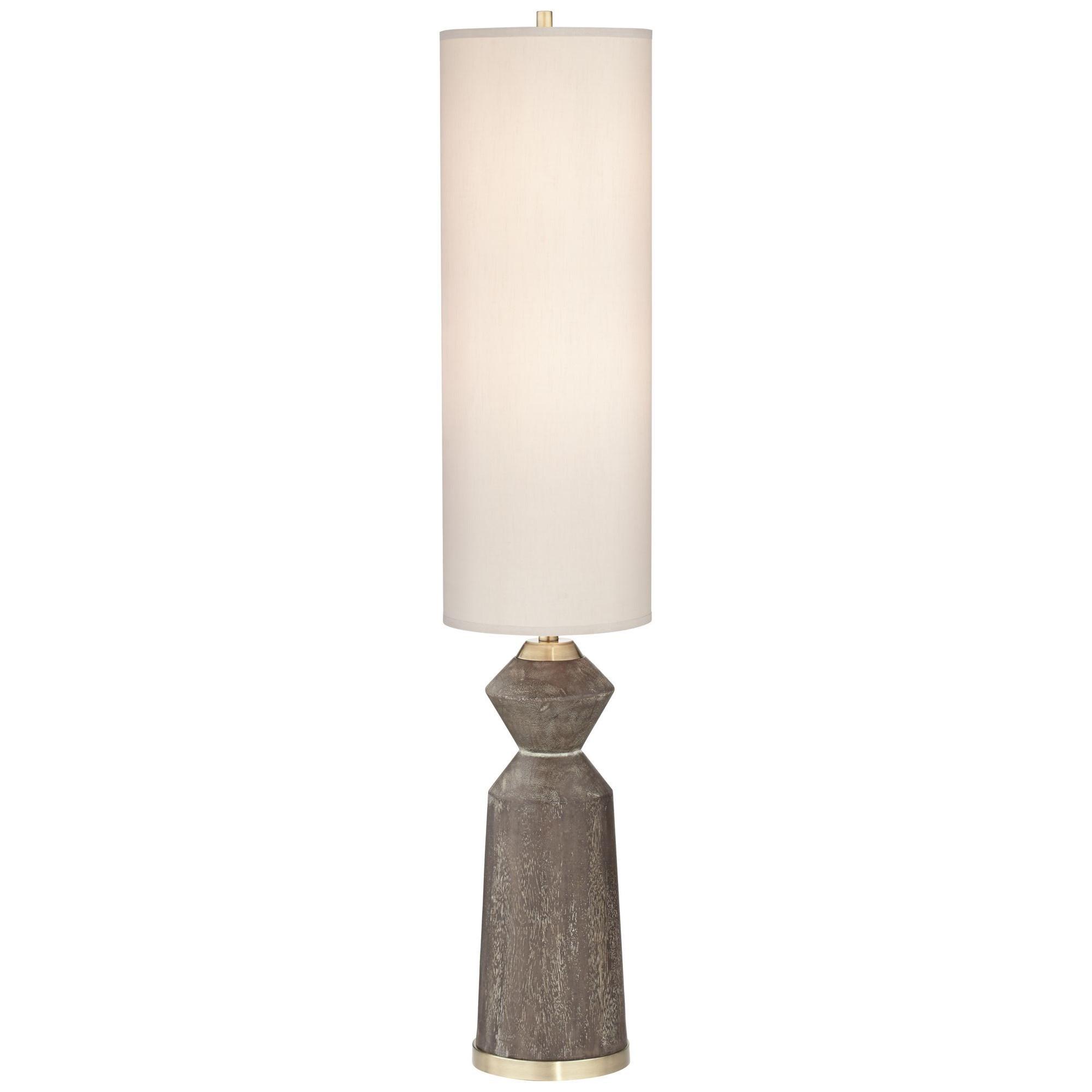 Column Faux Wood Floor Lamp