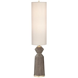 Pacific Coast Lighting Floor Lamps Column Faux Wood Floor Lamp
