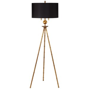 Pacific Coast Lighting Floor Lamps Metal Bamboo Tripod Floor Lamp