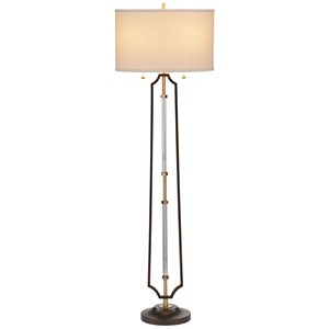 Pacific Coast Lighting Floor Lamps Metal And Glass Floor Lamp