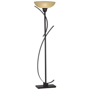 Pacific Coast Lighting Floor Lamps Kathy Ireland The Orbit - Bronze Torchiere