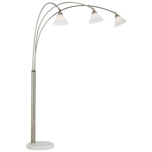 Pacific Coast Lighting Floor Lamps Archway Lamp-Brushed Steel