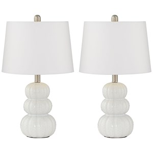 Pacific Coast Lighting Lamp Sets 2 Pack Coastal Ceramic Lamps