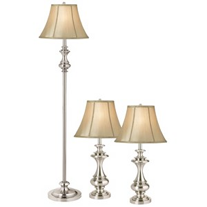 Pacific Coast Lighting Lamp Sets The Broadway Table and Floor Lamp 3Pk Set