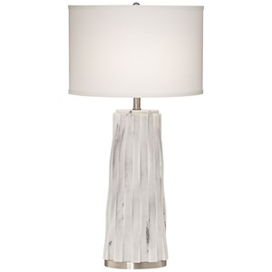 "Pacific Coast Lighting Table Lamps 34"" White Faux Marble"