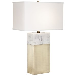 Pacific Coast Lighting Table Lamps KIE Block Faux Marble Lamp