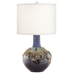 Pacific Coast Lighting Table Lamps Ceramic Poppy Multicolor Lamp