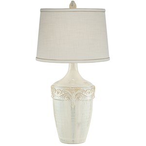 Pacific Coast Lighting Table Lamps Beige Almond Ceramic Lamp