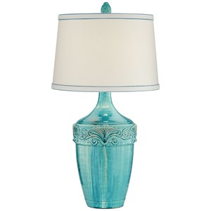 Pacific Coast Lighting Table Lamps Teal Ceramic Lamp