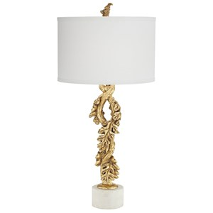 Pacific Coast Lighting Table Lamps  Falling Oak Leaves Gold Leaf Lamp