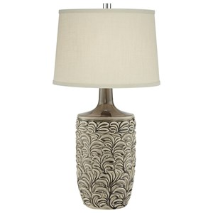 Pacific Coast Lighting Table Lamps Organic Ceramic Grey Lamp