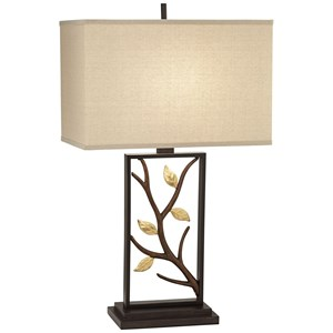 Pacific Coast Lighting Table Lamps Metal Lamp W/Branch And Leaves