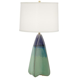 Pacific Coast Lighting Table Lamps Four Sided Green & Blue Lamp
