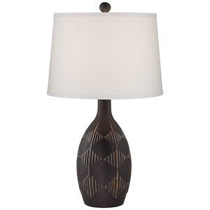Pacific Coast Lighting Table Lamps Dark Charcoal Glazed Lamp