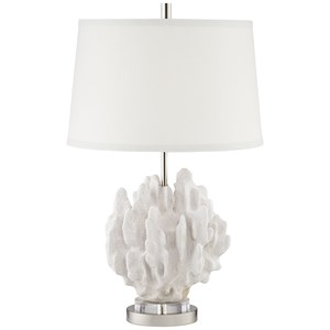 Pacific Coast Lighting Table Lamps Faux Butter Leaf Coral Lamp