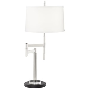 Pacific Coast Lighting Table Lamps Kathy Ireland Modern Swing Arm Table Lamp