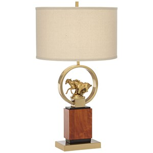 Pacific Coast Lighting Table Lamps Running Horses Table Lamp