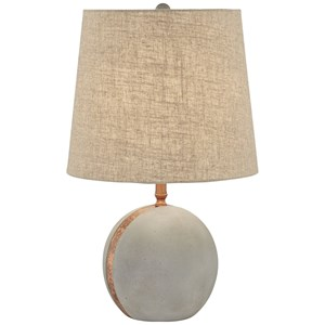 Pacific Coast Lighting Table Lamps Cement Ball W/Brass Strip Lamp