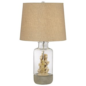Pacific Coast Lighting Table Lamps Glass W/Faux Coral Table Lamp