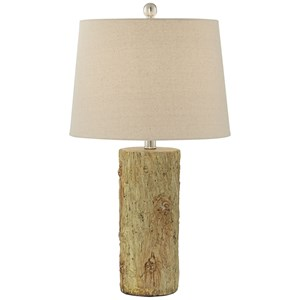 Pacific Coast Lighting Table Lamps Faux Tree Bark Table Lamp