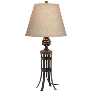 Pacific Coast Lighting Table Lamps Pine Cone Metal And Poly Table Lamp